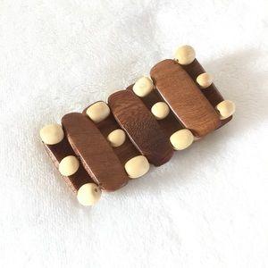 Boho wooden chunky bracelet